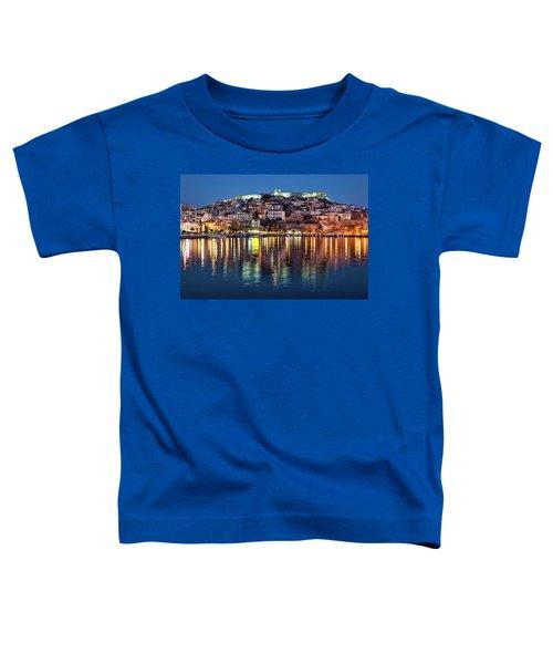 Kavala Town At Night Toddler T-Shirt