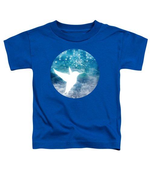 Magical, Whimsical Spirit Hummingbird Drinking Stars Toddler T-Shirt