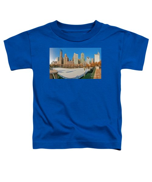 Mccormick Tribune Plaza Ice Rink And Skyline   Toddler T-Shirt