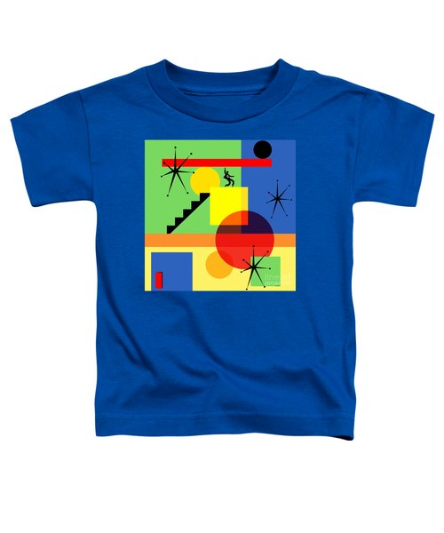 Mid Century Modern Abstract Jailhouse Rock 20190106 Square Toddler T-Shirt