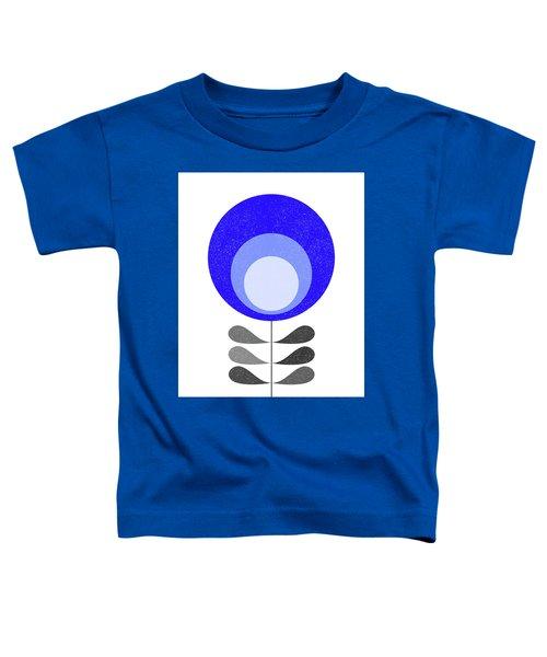 Mid Century Modern Blue Flower 3 Toddler T-Shirt