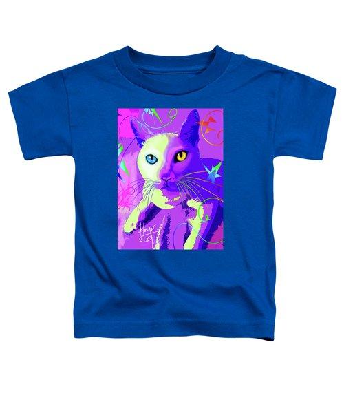 pOp Cat Cotton Toddler T-Shirt
