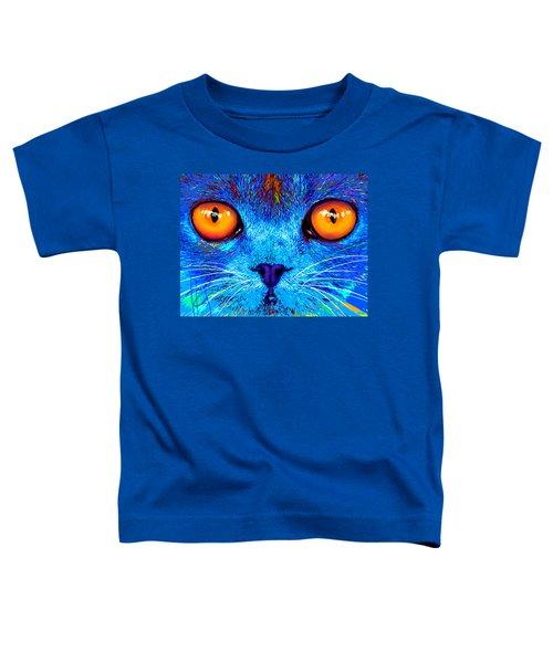 pOpCat Boe - Big Orange Eyes Toddler T-Shirt