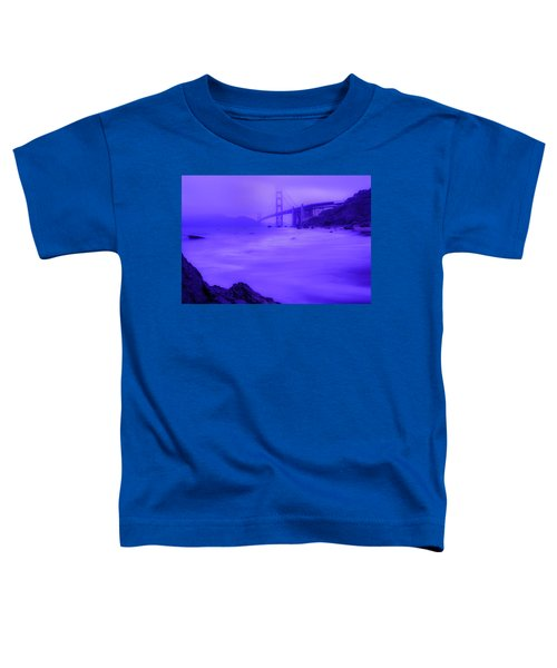 Purple Golden Gate Fog Toddler T-Shirt