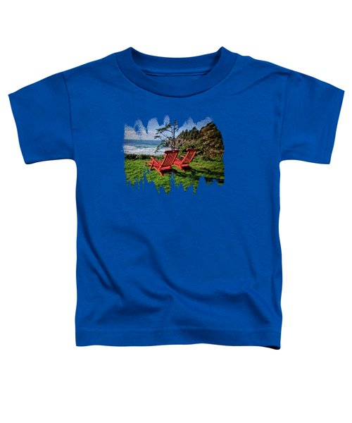 Red Chairs At Agate Beach Toddler T-Shirt