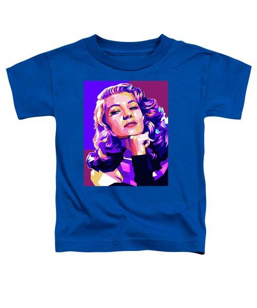 Rita Hayworth Illustration Toddler T-Shirt