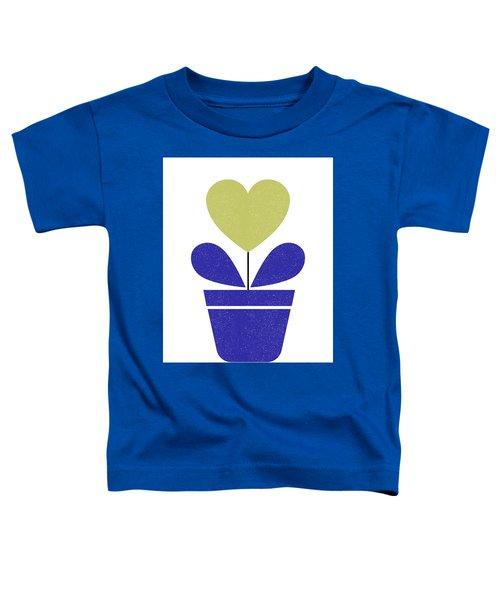Scandinavian Heart Flower II Toddler T-Shirt