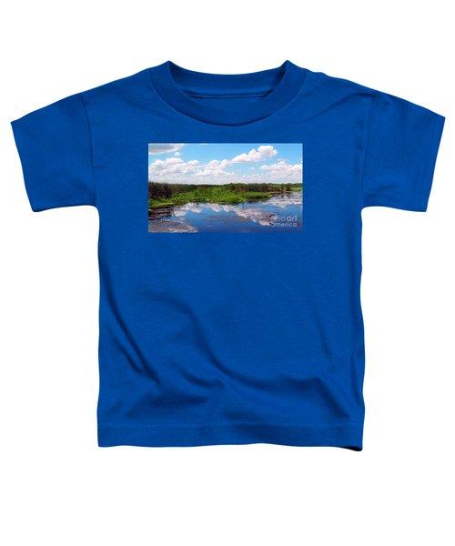 Skyscape Reflections Blue Cypress Marsh Near Vero Beach Florida C6 Toddler T-Shirt