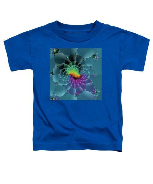 Slate Blue Fractal Toddler T-Shirt
