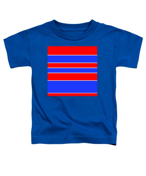 Stacked - Red, White And Blue Toddler T-Shirt