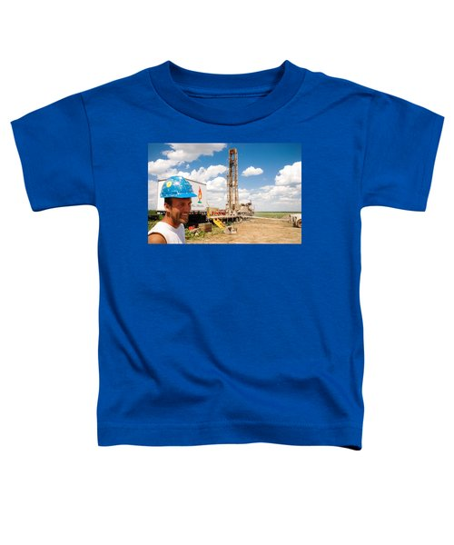 Toddler T-Shirt featuring the photograph The Gas Man by Carl Young