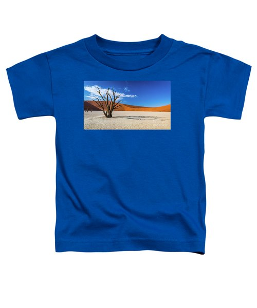 Tree And Shadow In Deadvlei, Namibia Toddler T-Shirt