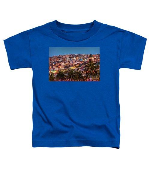 Valparaiso Illuminated At Night Toddler T-Shirt