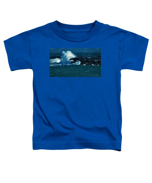 Waves On The Rocks Toddler T-Shirt