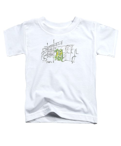Two Alligators Ride The Subway Toddler T-Shirt