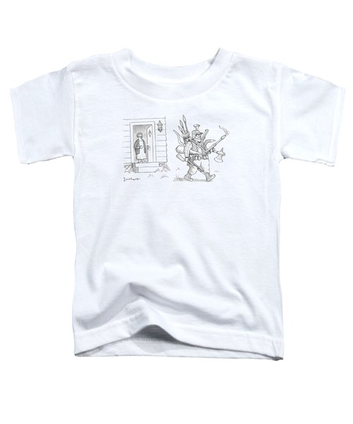 An Elderly Woman Calls Out From The Front Door Toddler T-Shirt