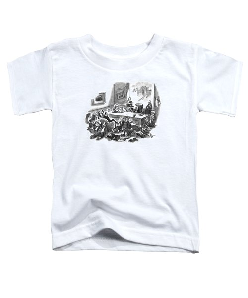 An Office Room Is Seen Overflowing With Men Toddler T-Shirt