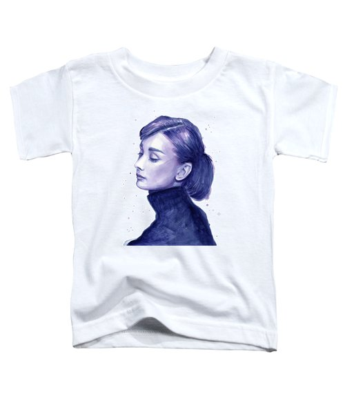 Audrey Hepburn Portrait Toddler T-Shirt by Olga Shvartsur