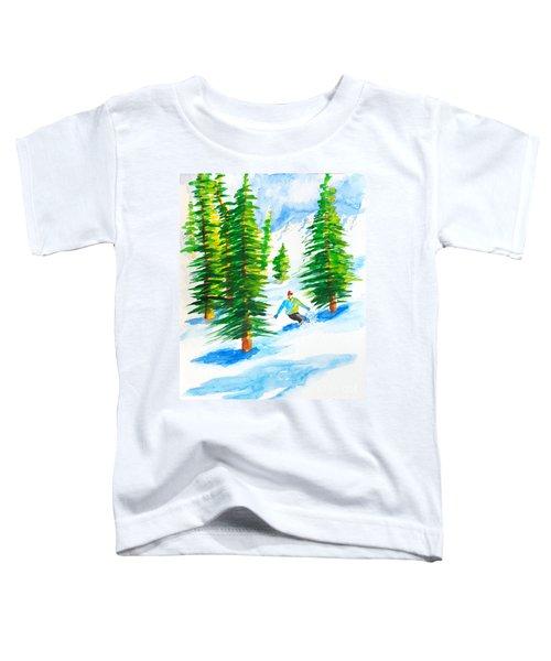 David Skiing The Trees  Toddler T-Shirt