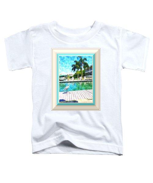 Dry Dock Bird Walk - Digitally Framed Toddler T-Shirt