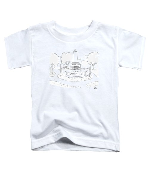 Monument Of The Eternal Conspiracy Theory Toddler T-Shirt