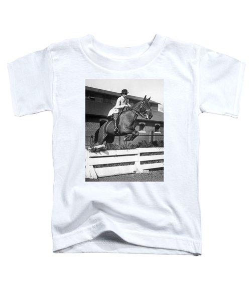 Rider Jumps At Horse Show Toddler T-Shirt