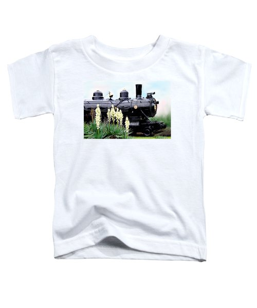 The Black Steam Engine Toddler T-Shirt
