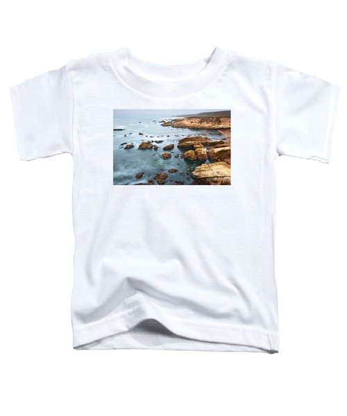 The Jagged Rocks And Cliffs Of Montana De Oro State Park In California Toddler T-Shirt