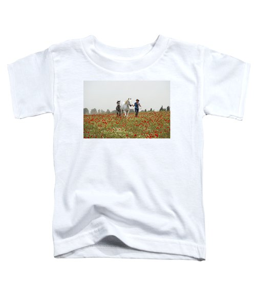 Three At The Poppies' Field... 3 Toddler T-Shirt by Dubi Roman