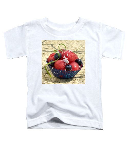 Watermelon Blueberry And Goatcheese Toddler T-Shirt