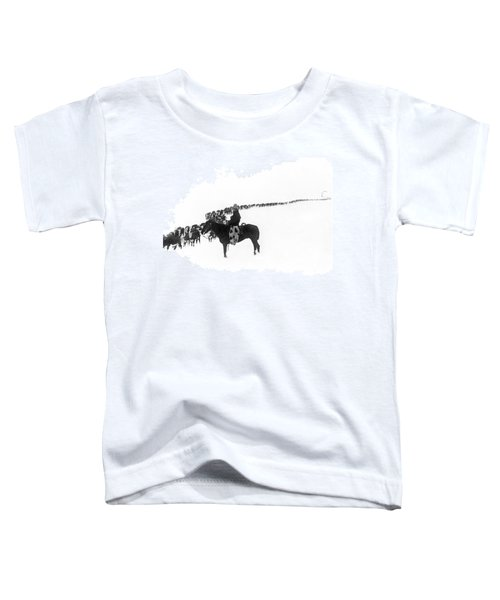 Wintertime Cattle Drive Toddler T-Shirt