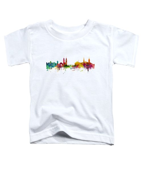 Zurich Switzerland Skyline Toddler T-Shirt