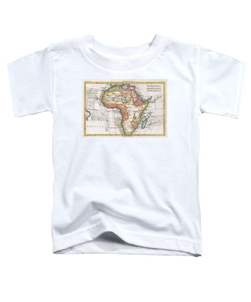 1780 Raynal And Bonne Map Of Africa Toddler T-Shirt
