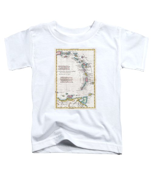 1780 Raynal And Bonne Map Of Antilles Islands Toddler T-Shirt