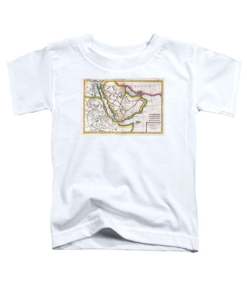 1780 Raynal And Bonne Map Of Arabia And Abyssinia Toddler T-Shirt