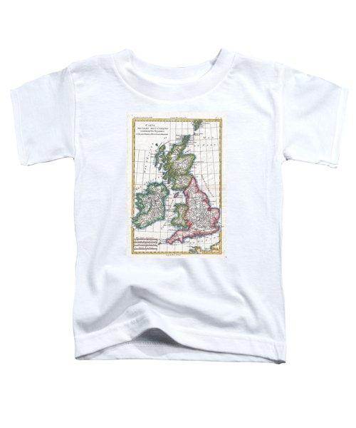 1780 Raynal And Bonne Map Of British Isles Toddler T-Shirt