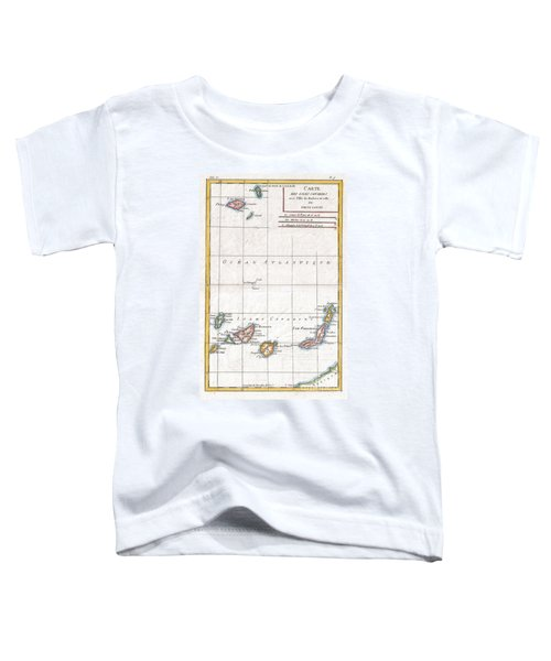 1780 Raynal And Bonne Map Of Canary Islands Toddler T-Shirt