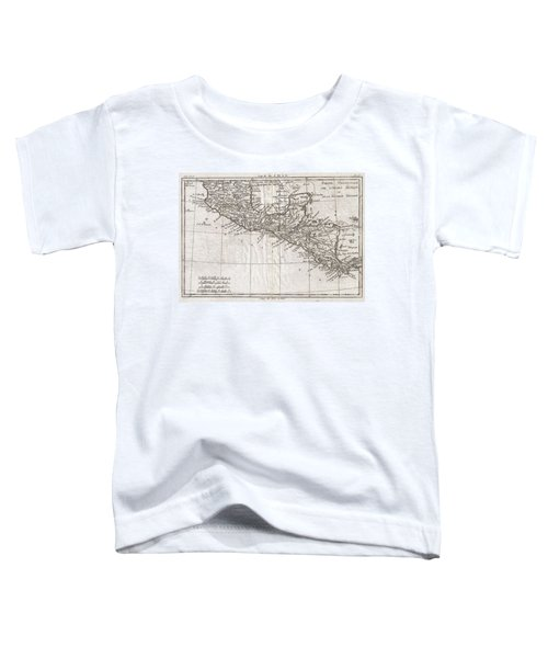 1780 Raynal And Bonne Map Of Central America And Southern Mexico Toddler T-Shirt