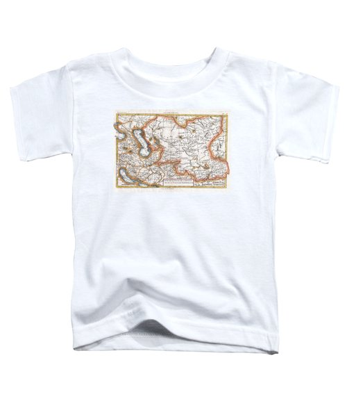 1780 Raynal And Bonne Map Of Central Asia Toddler T-Shirt