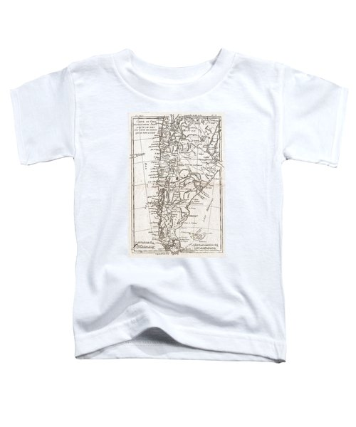 1780 Raynal And Bonne Map Of Chile Toddler T-Shirt