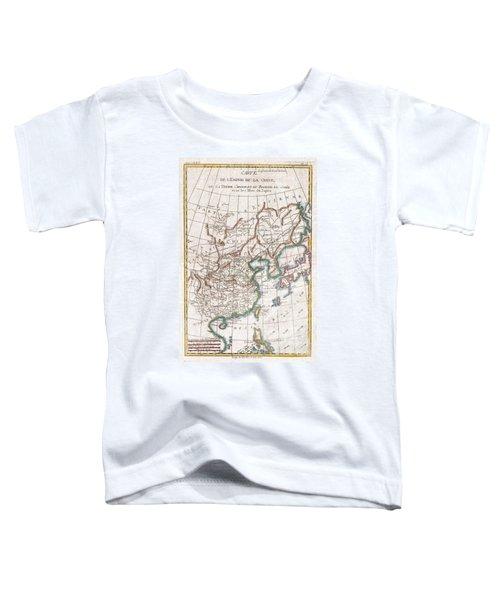 1780 Raynal And Bonne Map Of China Korea And Japan Toddler T-Shirt