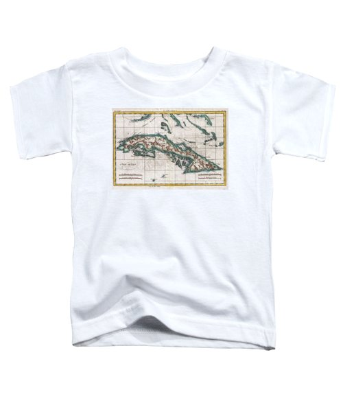 1780 Raynal And Bonne Map Of Cuba West Indies Toddler T-Shirt