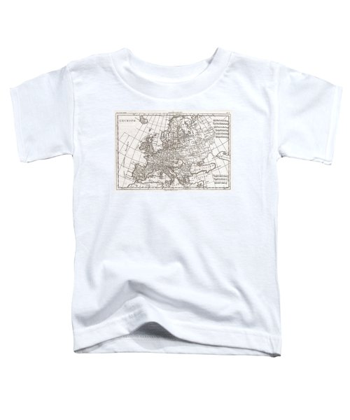 1780 Raynal And Bonne Map Of Europe Toddler T-Shirt
