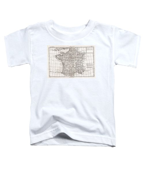 1780 Raynal And Bonne Map Of France Toddler T-Shirt