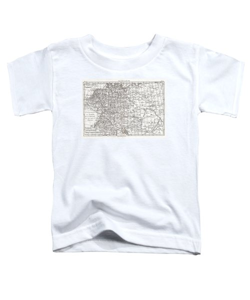 1780 Raynal And Bonne Map Of Germany Bohemia And Poland Toddler T-Shirt