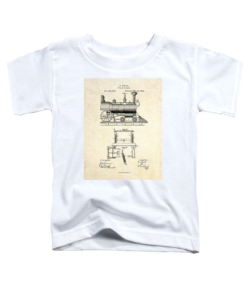 1878 Railroad Track Clearer Patent Art Toddler T-Shirt