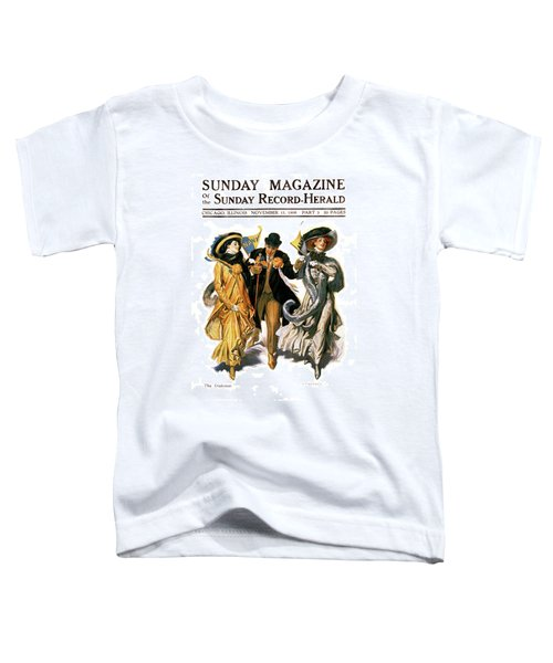 1900s Stylish Man With Two Women Toddler T-Shirt