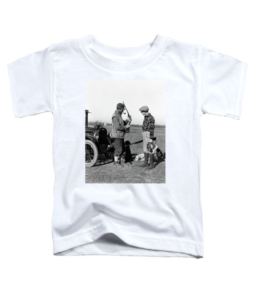 1930s Two Men Hunters By Car Looking Toddler T-Shirt