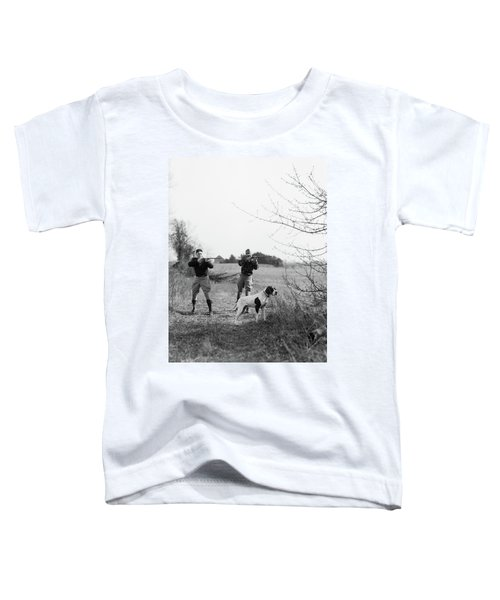 1930s Two Men Hunting Shooting Shotguns Toddler T-Shirt
