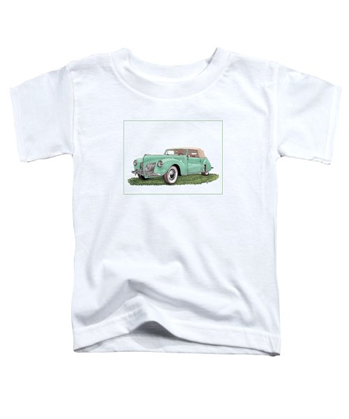 1941 Lincoln V-12 Continental Toddler T-Shirt